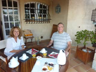 Joëlle and Gilbert on the French Riviera 2014.