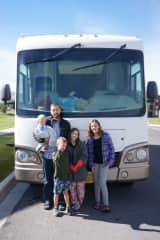 Us and our motorhome.