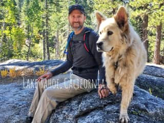 Ely guiding us on his favorite hike in California's High Sierra