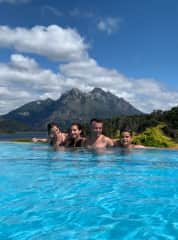 We took this photo two days ago in the pool at the Llao Llao hotel, the most emblematic of Bariloche