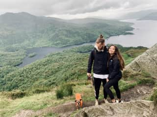 Hiking the highlands with Buster in Scotland!