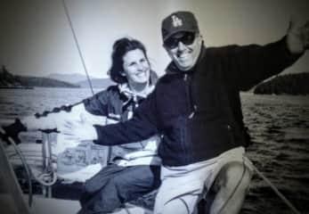 Me and my dad sailing in the San Juans Islands, Washington USA