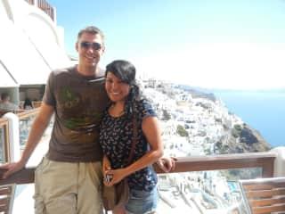 Paola and Patrick in Santorini