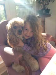 Grandchildren and pets are very loved.