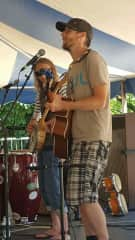 Brooke and Steve playing at the local Festival of the Arts in Grand Rapids