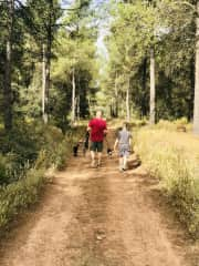 A nice family walk with Petite and Boy in Agres, Spain.
