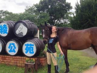 Atlas, Larissa's favourite horse at the Aya Horse Park