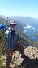 Danny walking 3 Capes in Tasmania