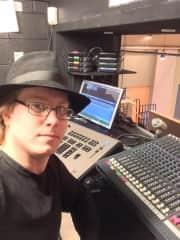 Sound tech for a theatre production