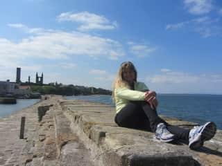 me relaxing after biking in Scotland