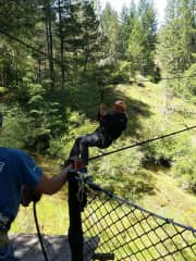 We are young at heart!  We zip-wired in Canada