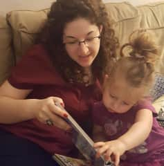 Reading to the little girl I nannied