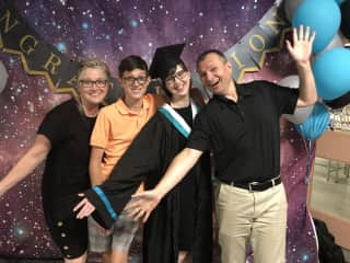 All of us at my daughter's recent grad