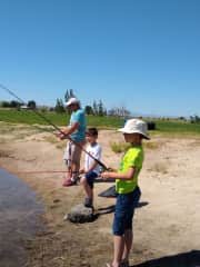 Fishing with boys
