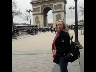 Traveling through Paris.