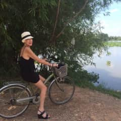 Cycling in the countryside an hour out of Ho Chi Minh City