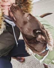 Erin with Zoe-a regular dog walking client