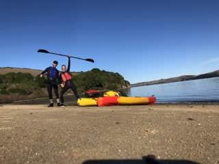 Kayak camping in Tomales Bay, CA