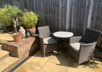 A great sun trap for a morning coffee!