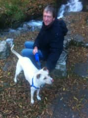 David with Puppo in Italy