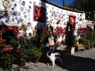 Steve with Angus in Granada  (from trusted house sitters )