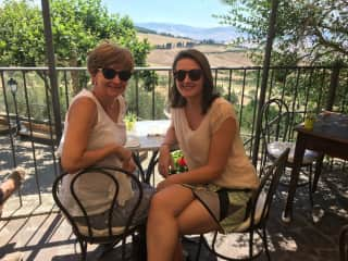 Mother and Daughter in Italy