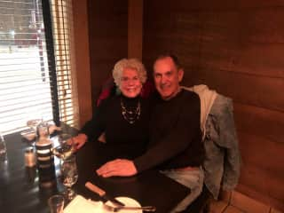 Gail and John dinner at Niagara Falls