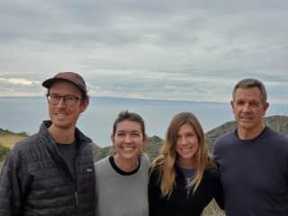 My family hiking on Catalina Island 2019