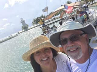 Bill and Tracy on a sailing charter