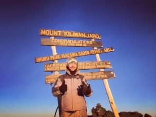 Me on top of Mount Kilimanjaro, 2015