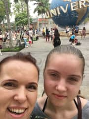With my daughter