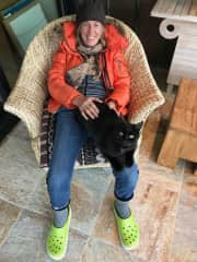 Quality time with Sui. Nothing like a warm lap in winter. Ketchum, Idaho