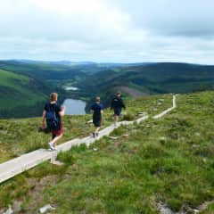 Our family hiking to the peak of the Wicklow Mountains in Ireland