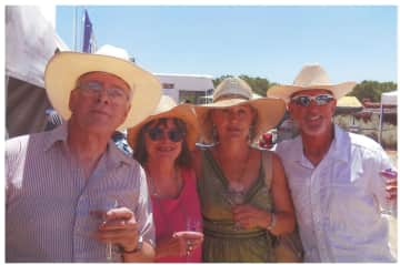 Ian and Nicky and our neighbors Peggy and Mike at the Santa Fe wine festival.