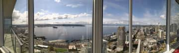 Panorama taken from living room