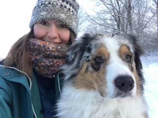 Enjoying winter walks