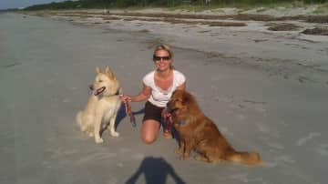 With Ms Sari and Mr Bodhi on the beach