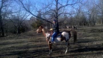 Lee riding Pepe