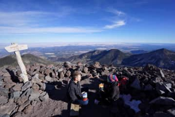 Thanksgiving meal at the highest point in AZ