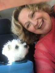 Charlie and I on the road.