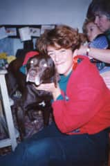 Me and beloved family dog Amy, 1992