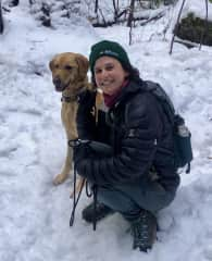 Me and Kesey in the snow!