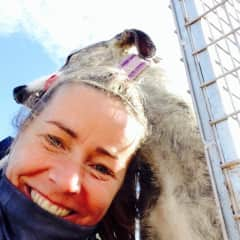 Selfie time with Brandy at Galgos del Sol, Spain