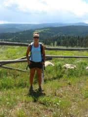 Day hike in picturesque Big Sky, Montana
