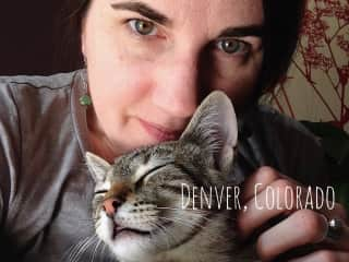 Snuggles with Udon in Denver