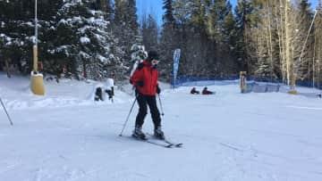 Glenda Skiing at Keystone