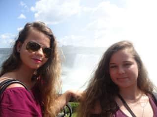my daughters while visiting Niagara Falls