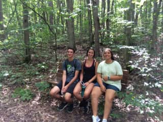 My three darling kids on a family hike.