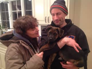 Me, my brother and my dog-niece Katie