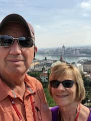 Bev and I in Budapest, Hungary